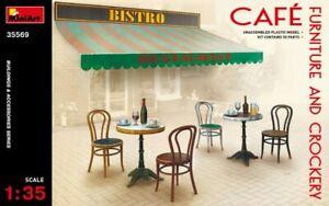 Miniart 35569 - 1/35 Cafe Furniture And Crockery Buildings Plastic Model Kit