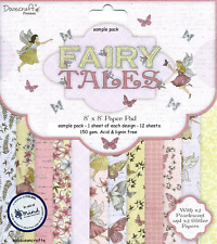 DOVECRAFT FAIRY TALES MIND CHARITY 8 X 8 SAMPLE PACK 12 SHEETS - POSTAGE DEAL