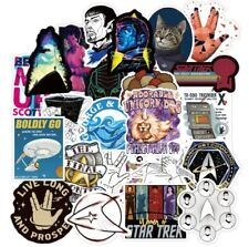 70 Star Trek stickers TNG DS9 Discovery Cats decal spock picard luggage laptop