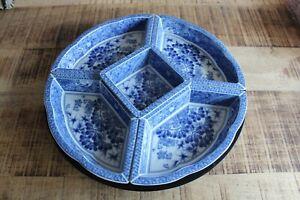 Japanese Blue & White Porcelain Serving Dish Rotating Lazy Susan Party Tableawre