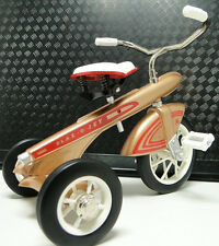 Tricycle Trike 1960s Bike Vintage Antique Classic Gold & Red Metal Midget Model