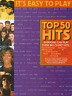 38 CHART POP HITS For Easy Piano Sheet Music Book Songs Songbook Shop Soiled