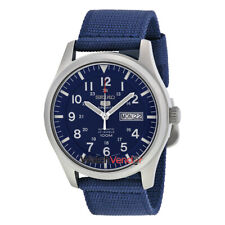 Seiko 5 Sport Automatic Navy Blue Canvas Men's Watch SNZG11