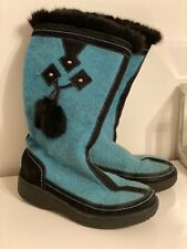 Russian Valenki traditional Russian winter wooly boots, ladies, size 5/6.