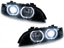 97-00 BMW E39 V3 U-Ring LED Halo D2S Xenon HID Headlight + Auto Level + Ballasts