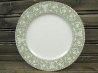 Buckingham by Sango Bread Plate Green Rim White Leaves & Scrolls s65