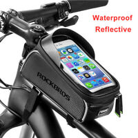 ROCKBROS Bicycle Frame Bag Waterproof Fit For 6.0 Inch Phone Pocket Touch Screen
