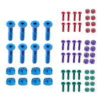 8pcs Replacement Skateboard Truck Hardware Longboard Mounting Screws Bolts