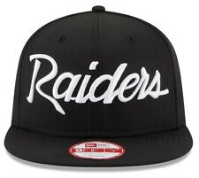 Los Angeles Raiders New Era 9Fifty Vintage Anniversary Script Snapback Hat NFL