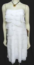 NWT Wedding Dress Ivory White Organza 10 Strapless Knee Length Light in the Box