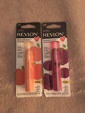 Revlon Kiss Berry Burst And Juicy Peach
