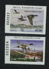 CKStamps: US State Duck Stamps Collection North Carolina (2) Mint NH