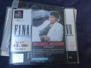 Michael Jackson - Thriller Cassette Tape White Shell Black