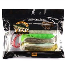 "Mizugiwa fishing soft plastic meat worm bait vibra tail swimbaits 3.8"" 7.8G"