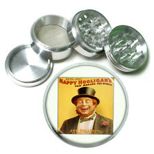 "Vintage Poster D107 Aluminum Herb Grinder 2.5"" 63mm 4 Piece Happy Hooligan's"