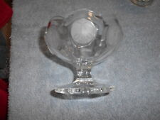 ( At1 ) Avon - Fostoria - Clear Coin Glass Compote - 91 st Anniv.