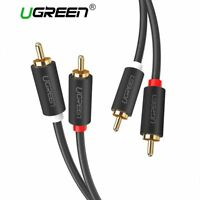 UGREEN® 2RCA To 2 RCA Male To Male Audio Cable Gold-Plated RCA Audio Cable