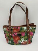 Stunning!! Nine & Co Womens Floral, Red, Pink, white. Brown Straps-Purse Handbag