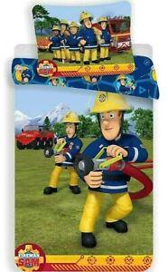 Feuerwehrmann Sam Wende Bettwäsche Kinder Reißverschluss Sam 100x135 cm Cotton
