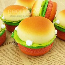 2016 6CM Cute Yummy Soft Hamburger Mirror Squishy Phone Straps Bread Key Chains
