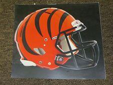 "CINCINNATI BENGALS HELMET NFL Fathead Wall Graphics 11"" x 9""  (Poster/Sticker)"