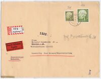 BUND, Mi. 194, 261, R-Eilbf. Augsburg 5.10.57, Faltbug
