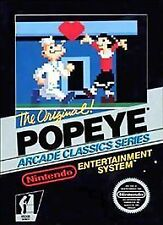 Popeye cartridge Nintendo Entertainment System 1986 w/Manual VIDEO GAME vintage!