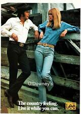 Vintage ad Denim Work Wear Lee Jeans 1973 Cool Couple