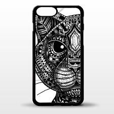 Cat face cats head pretty aztec black and white pattern graphic phone case cover