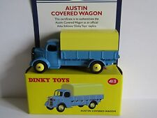 ATLAS DINKY AUSTIN COVERED WAGON BLUE 413 UK ISSUE