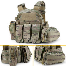 Hunting Paintball Molle Tactical Vest with Accessory Bag Pouch 500D Nylon