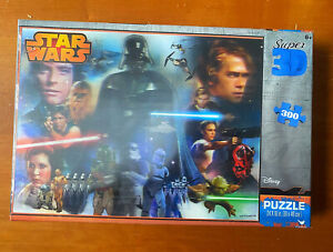 Star Wars Puzzle Disney Super 3D Jigsaw 300 Pieces - Cool 3D Look! Starwars