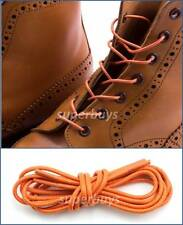 "Orange 80cm Round Wax Waxed Cotton Shoe Work Boot Cord Dress Laces 32"" 3/4 Eyes"