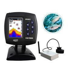 GLÜCK FF918 Sonar Fish Finder Farbe Wireless 300 Mt / 980ft Englisch / Russisch