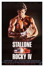 ROCKY IV (1985) ORIGINAL ADVANCE MOVIE POSTER  -  ROLLED