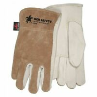 Mcr Safety 3204S Select Cowhide Brown Split Back,S,Pk12