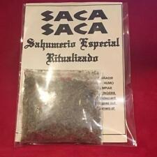 ☆ SAHUMERIO RITUALIZADO SACA SACA ☆ Ritual Mix Herbs & Incense