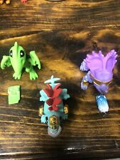 Treasure X Dino Gold Lot of 3 Spiker Pterodactyl Styractor Dinosaur Moose Toys