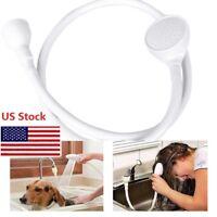 Pet Dog Shower Head Spray Drain Strainer Washing Hair Lave Bath Hose Sink Water