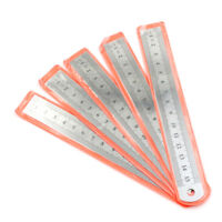 5 PCS Dual Side Marked 15cm 6 inch Stainless Steel Straight Ruler KM