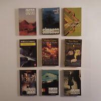 9 livres de poche romans policiers langue française vintage 1970-99 France N3471