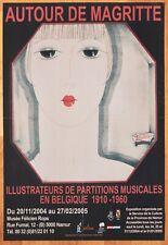 Affiche AUTOUR DE MAGRITTE p. musicales 1910-1960 • Peter DEGREEF • Art Déco