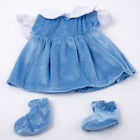 Cool Blue Dress With Socks For 18 inch Toy Doll Clothes Gift Set