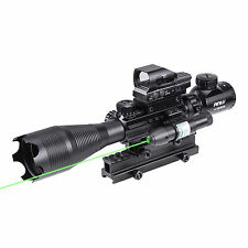 Rifle Scope Combo 4-16x50EG Illuminated Optics Sight & JG13/G Green Laser omt