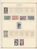 france semi postal stamps 1949 page mounted mint & used ref 17473