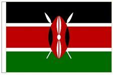Kenya Sleeved Courtesy Flag Ideal for Boats 45cm X 30cm