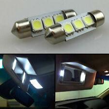 2x Xenon White 36mm 3-SMD 5050 LED Auto Car Dome Bulb Visor Vanity Mirror Lights