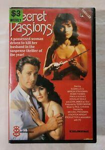 Secret Passions VHS 1987 Horror Michael Pressman 1988 FILMPAC (Ex-Rental)
