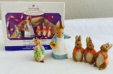 1999 Hallmark Keepsake Beatrix Potter The Tale Of Peter Rabbit 3 Pc Ornament Set