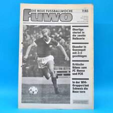 DDR FUWO Fussballwoche 7/1985 Hansa Rostock FC Karl-Marx-Stadt Ekuador-DDR 2:3 B